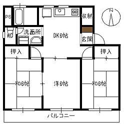 みどりマンション[102号室]の間取り