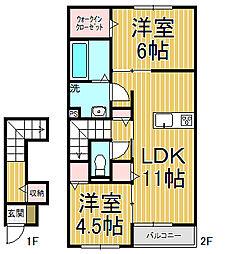 セジュール本覚寺[2階]の間取り