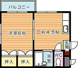 シャトレ紅梅[3階]の間取り