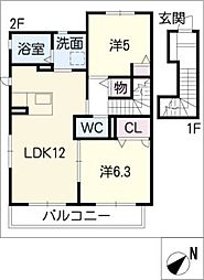 アミコート[2階]の間取り