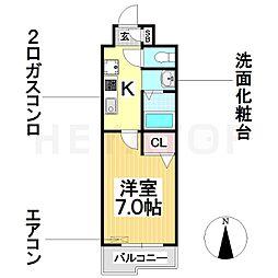 愛知県名古屋市南区鯛取通5丁目の賃貸マンションの間取り