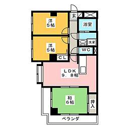 Opus Five[3階]の間取り