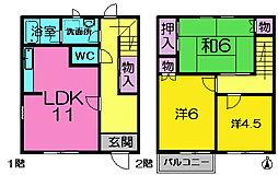 [テラスハウス] 奈良県奈良市学園南1丁目 の賃貸【/】の間取り