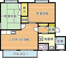 フレグランス高須南 B棟[2階]の間取り