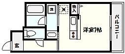 兵庫県神戸市東灘区森北町1丁目の賃貸マンションの間取り