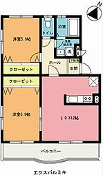 埼玉県上尾市栄町の賃貸マンションの間取り
