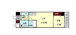 (仮)西大寺南マンション 6階1DKの間取り