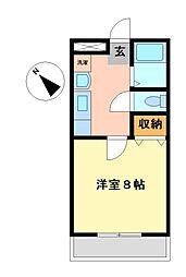 パールマンションII[1階]の間取り