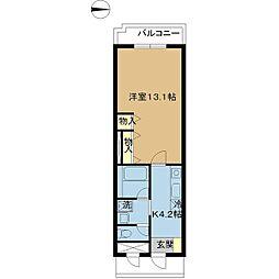 新潟県新潟市中央区鐙1丁目の賃貸マンションの間取り