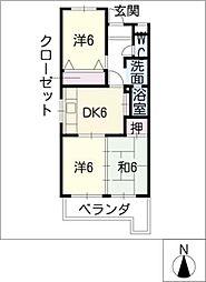 第8平與マンション[4階]の間取り