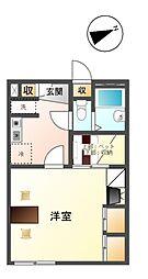 長野県上田市中央4丁目の賃貸アパートの間取り