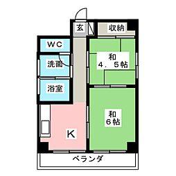 古川マンション東[2階]の間取り