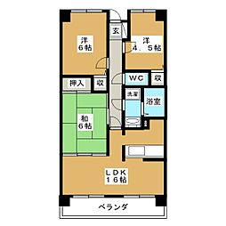 コンバウス西中田[10階]の間取り