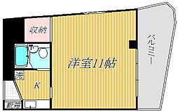 カーサ中井[4階]の間取り