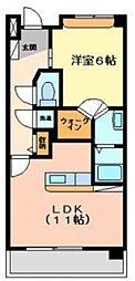 EXESS CITY[305号室]の間取り