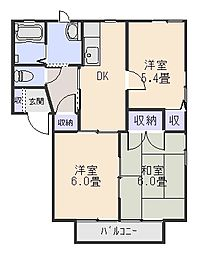 ニューフォーブルC[2階]の間取り