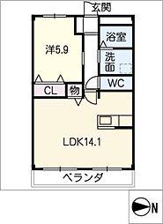 仮)北島マンション 3階1LDKの間取り