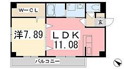 兵庫県姫路市忍町の賃貸マンションの間取り