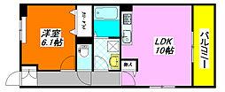 インペリアルライフ 307号室[3階]の間取り