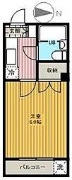 東京都足立区関原2の賃貸マンションの間取り