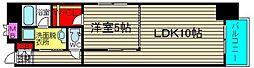 コンソラーレ桜川V[201号室]の間取り