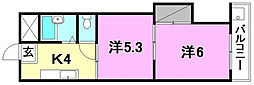 第7みのりハイツ愛光[305 号室号室]の間取り