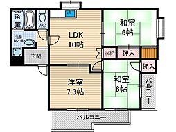 プロスペリティ[2階]の間取り