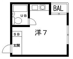 山田ビル[3B号室号室]の間取り