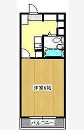 クリスタル津田沼PART1[405号室]の間取り