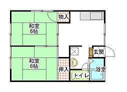コーポ北澤[2階]の間取り