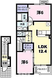 イーストブロードII[2階]の間取り