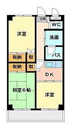 ヤマダイマンション[2階]の間取り