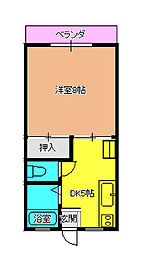 パーソンズ平井B[103号室]の間取り