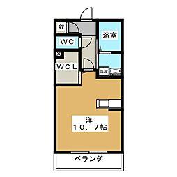 プレミアム・ベレオ 2階ワンルームの間取り