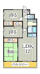 千葉県我孫子市柴崎台4丁目の賃貸マンションの間取り