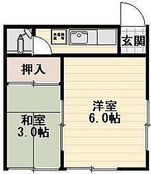 野口マンション[3階]の間取り