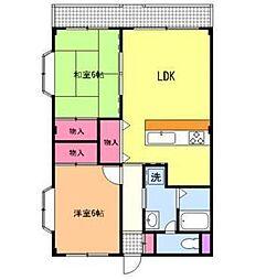 第二ロイヤル島田[3階]の間取り
