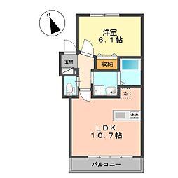 仮称北小岩1丁目新築アパート[301号室]の間取り
