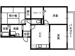 ハイカムール21[1階]の間取り