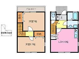 [テラスハウス] 三重県松阪市久保町 の賃貸【三重県 / 松阪市】の間取り