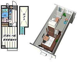 東京都足立区興野2丁目の賃貸アパートの間取り