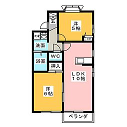 ハイムマグノリアA[2階]の間取り