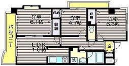 東京都世田谷区南烏山6の賃貸マンションの間取り