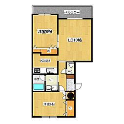 リングロード21[5階]の間取り