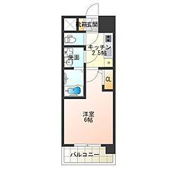 Osaka Metro長堀鶴見緑地線 大正駅 徒歩5分の賃貸マンション 15階1Kの間取り