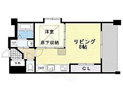 エステート・モア高砂倶楽部 3階1LDKの間取り