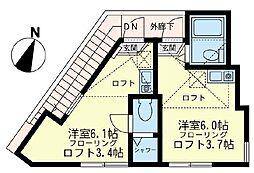 ユナイト 金沢八景ヨハネスの杜[2階]の間取り
