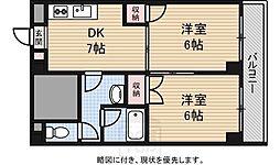 ラパンジール阿波座[5階]の間取り
