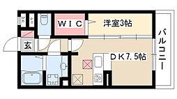 愛知県名古屋市昭和区曙町3丁目の賃貸アパートの間取り