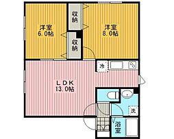 セジュールL[2階]の間取り